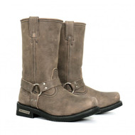 "Hot Leathers Men's 11"" Tall Harness Boot Stone-wash Brown"