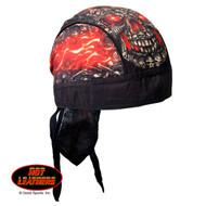 Hot Leathers Skull Made Of Skulls Headwrap