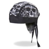 Hot Leathers Skull Flag Head Wrap