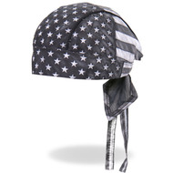 Hot Leathers Gray Flag Headwrap