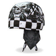 Hot Leathers Headwrap Checkered Flags