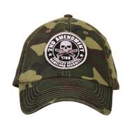 Hot Leathers 2nd Amendment Washed Camo Ball Cap