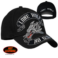 Hot Leathers Lone Wolf Ball Cap