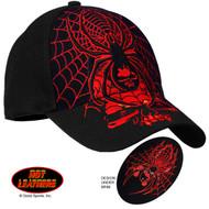 Hot Leathers Black Widow Ball Cap