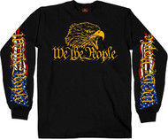 Hot Leathers We the People Eagle Long Sleeve Shirt