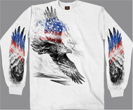 Hot Leathers Pencil Patriotic Eagle Long Sleeve