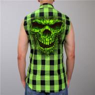 Hot Leathers Flannel Shredder Skull Vest