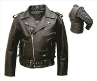 Allstate Leather Men's  MC Jacket with Sidelaces