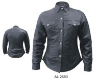 Allstate Leather Ladies Lambskin Western Shirt