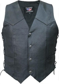 Men's Basic Biker Vest with Sidelaces