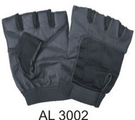 Fingerless Gloves with Black Spandex and Velcro Strap.