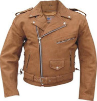 Allstate Leather Brown Leather Motorcycle Jacket