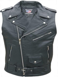 Allstate Leather Sleeveless Mens Classic MC Jacket