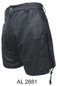 Ladies Lambskin Biker Shorts