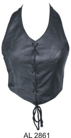 Ladies Laced Front Top(Lambskin)
