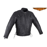 Mens Racer Jacket with Zippered Cuffs