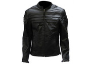 Mens Cowhide Racer Jacket w/ Front & Back Airvents