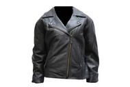 Ladies Heavy Duty Black Soft Leather Jacket