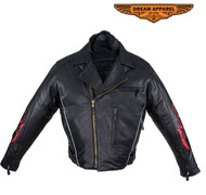 Dream Apparel MJ781-01 Mens Naked Racer Jacket w/ Flame