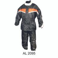 Allstate Leather Men's Orange/Black Rain Suit