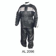 Allstate Leather Men's Gray/Black Rain Suit