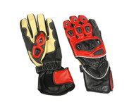 Men's Sport bike riding gloves in Red/Yellow