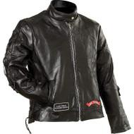 Ladies' Genuine Buffalo Leather Motorcycle Jacket