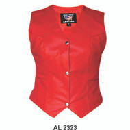 Ladies Red Leather Vest