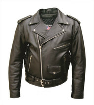 Mens Motorcycle Jacket in Split Cowhide Leather.