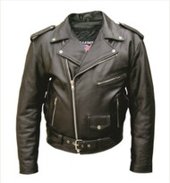 Men's Premium Buffalo Leather Motorcycle Jacket