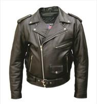 Allstate Leather Men's Premium Buffalo Leather Motorcycle Jacket