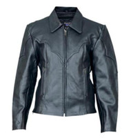 Ladies Cowhide Leather Riding Jacket