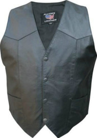 Mens Basic Motorcycle Vest