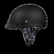 D.O.T. DAYTONA SKULL CAP HELMET- DULL BLACK
