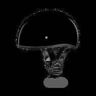 D.O.T. DAYTONA SKULL CAP Helmet  W/O VISOR- HI-GLOSS BLACK