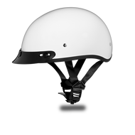 D.O.T. DAYTONA SKULL CAP Helmet- HI-GLOSS WHITE
