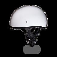D.O.T. DAYTONA SKULL CAP Helmet W/O visor- HI-GLOSS WHITE