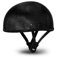 D.O.T. DAYTONA SKULL CAP- GREY CARBON FIBER W/O VISOR