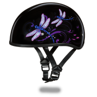 D.O.T. DAYTONA SKULL CAP Helmet- With Dragonfly