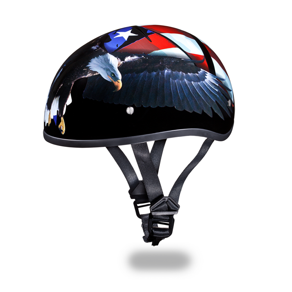ea0ee9e9624 Home · Motorcycle Helmets  D.O.T. DAYTONA SKULL CAP- With Freedom Graphics.  Image 1