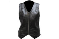 Ladies  Soft Touch Classic Style Leather Vest