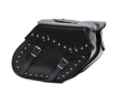 Motorcycle PVC Saddlebag With Studs