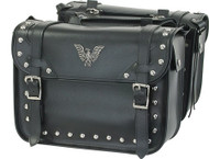 Motorcycle PVC Saddlebags With Studs