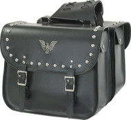 PVC-75 Motorcycle Saddlebag With Studs