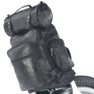 3pc Buffalo Leather Motorcycle Bag Set