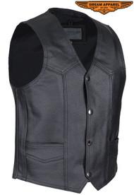 Dream Apparel Kids Black Leather Biker Vest