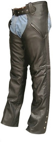 Unisex 2 Pocket Buffalo Leather Chaps