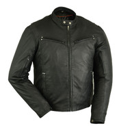 DS742 Men's Drum Dyed Naked Lambskin Jacket