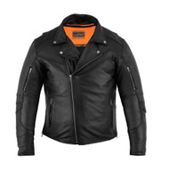 DS794 Men's Modern Longer Beltless Biker Jacket