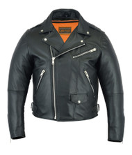DS737 Men's Modern Full Cut Beltless Biker Jacket